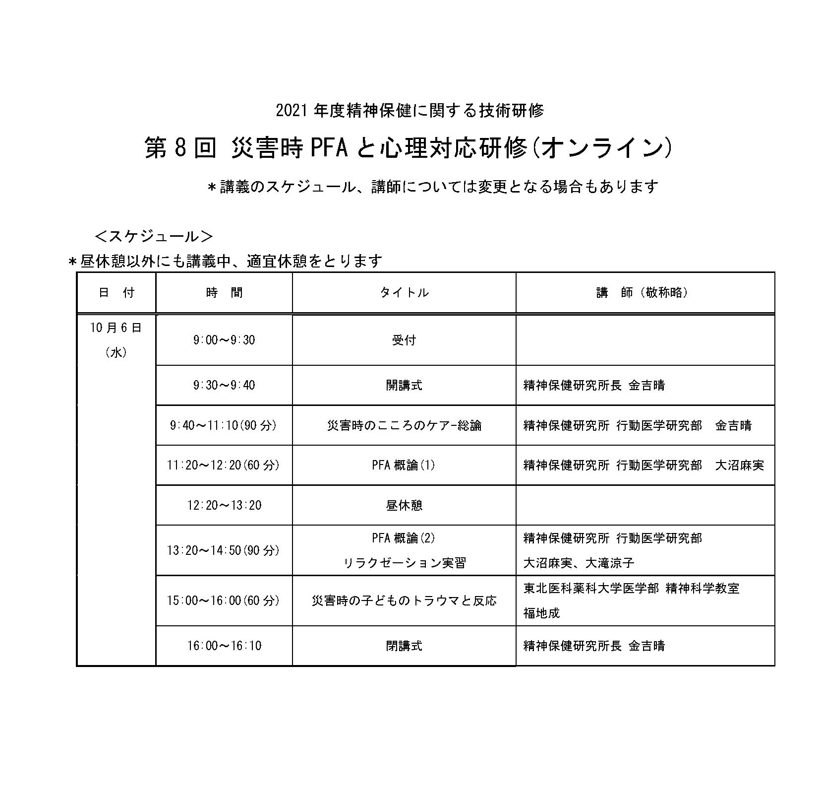 【修正】第8回災害時PFAと心理対応研修(オンライン)時間割.png
