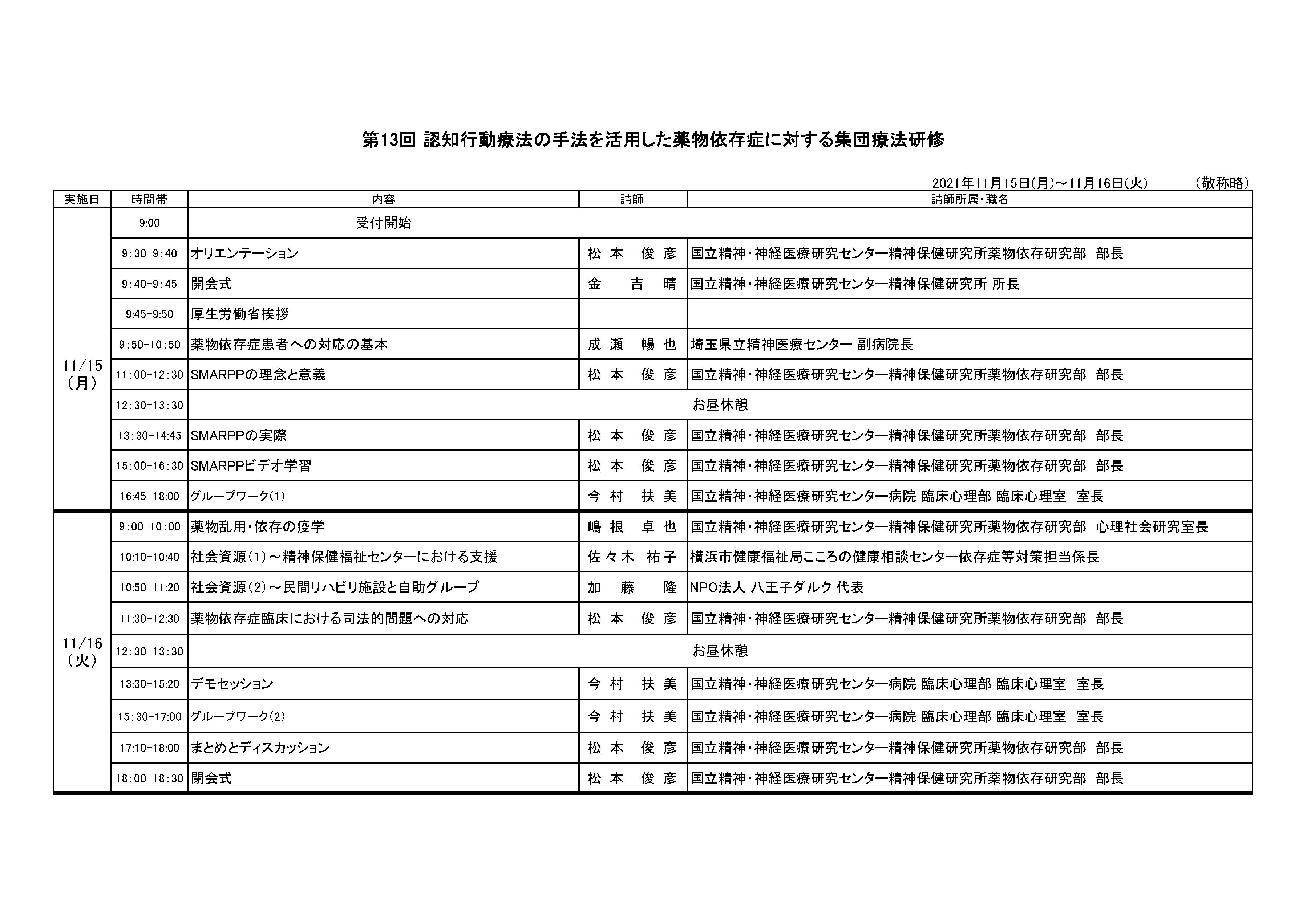 日程表_第13回認知行動療法の手法を活用した依存症集団療法研修.png